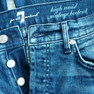 7 For All Mankind Button Fly Jeans High Waist Sz27